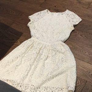 Cream Lace dress (size 4)